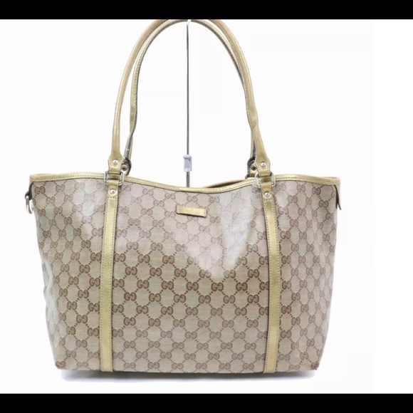 1f738f02507cc4 Gucci Bags | Just In Auth Browntan Gg Signature Tote | Poshmark